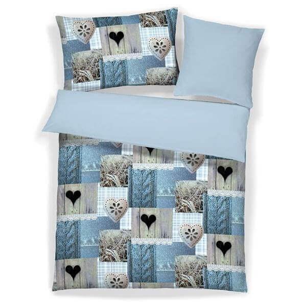 Bettwäsche Ilka blau
