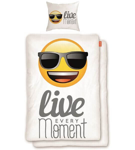 "Bettwäsche emoji ""live every Moment"""