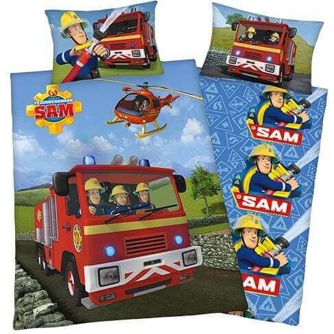 Bettwäsche Sam der Feuerwehrmann mit Auto