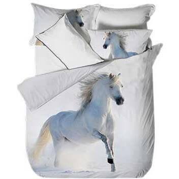 Bettwäsche Weisses Pferd Tiere Kinder Jugend Bettwäsche