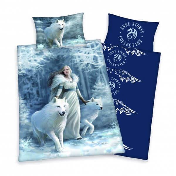 Bettwäsche Anne Stokes, Gothic mit Wolf