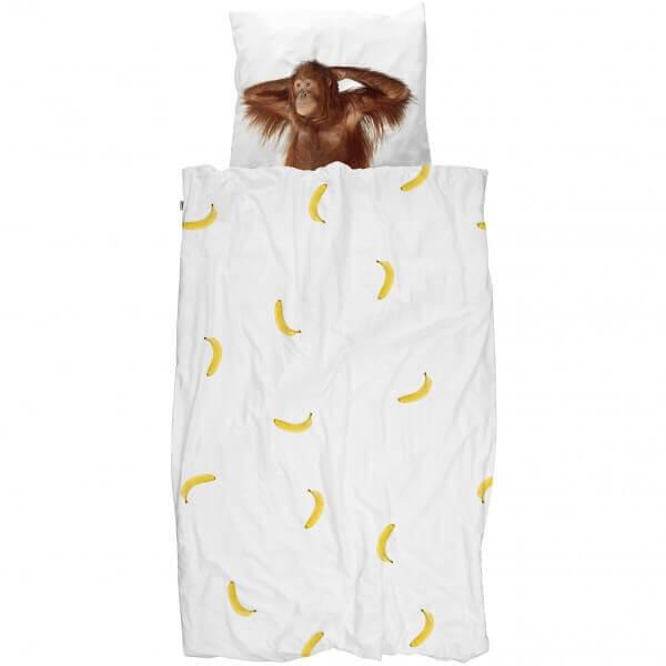 SNURK Bettwäsche Affe mit Bananen