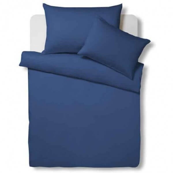 Bettwäsche Satin Uni Dark Blue