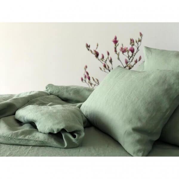 Bettwäsche Leinen Stone Washed Salbei