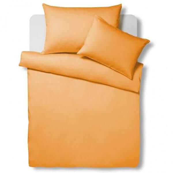 Bettwäsche Satin Uni Orange