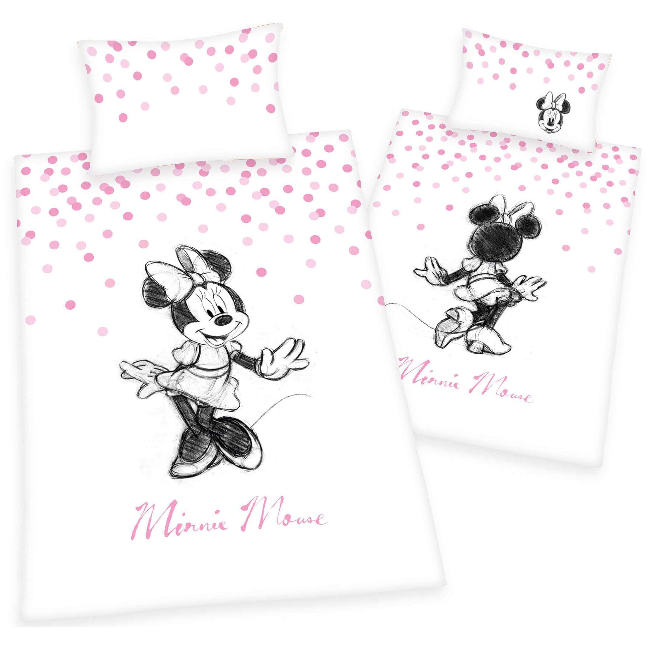 Bettwäsche Disneys Minnie Mouse Rosa Comic Kinder Jugend