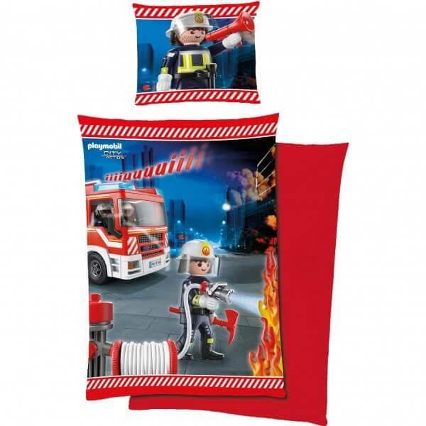 Bettwäsche Playmobil Feuerwehr