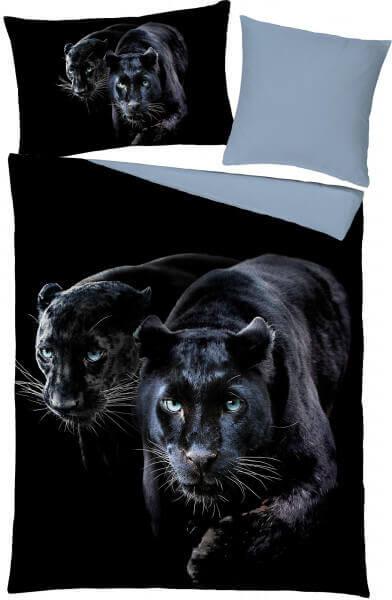 Satin-Bettwäsche Panther