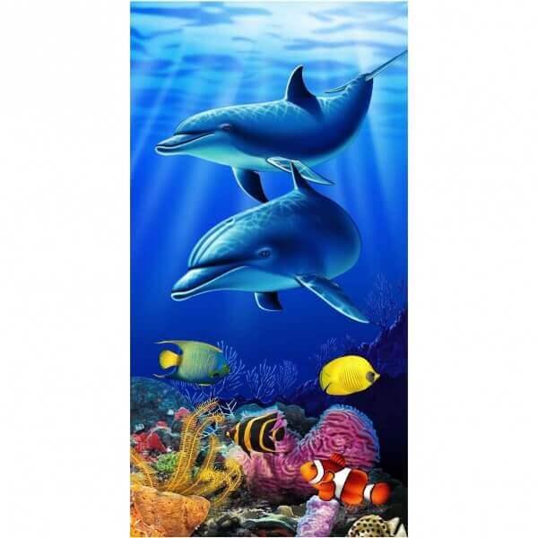 Strandtuch Delfinpaar