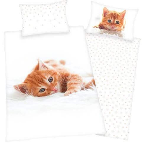 Bettwäsche rotes Katzenbaby