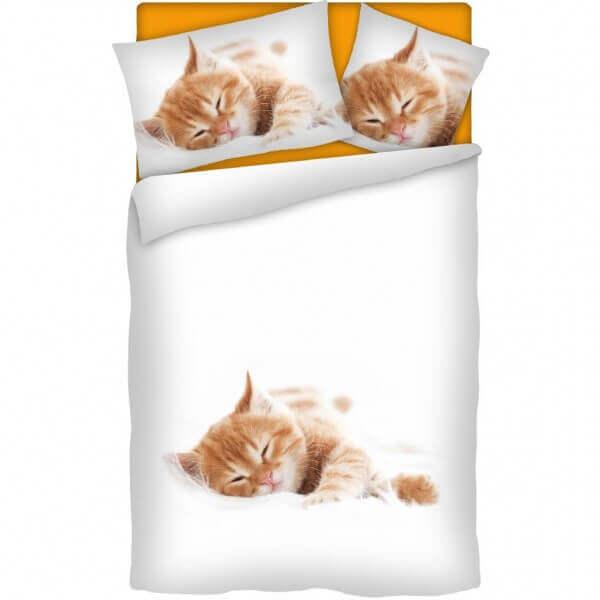 Bettwäsche Red Kitten, rote Katze