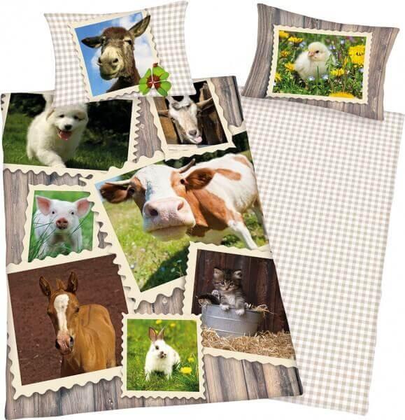 Bettwäsche Bauernhof Collage