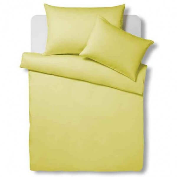 Bettwäsche Satin Uni Mellow yellow