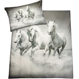 Bettwäsche Wilde Pferde Tiere Kinder Jugend Bettwäsche