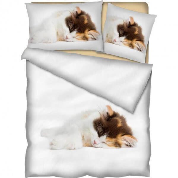 Bettwäsche Charlie - Vierfärber Katze