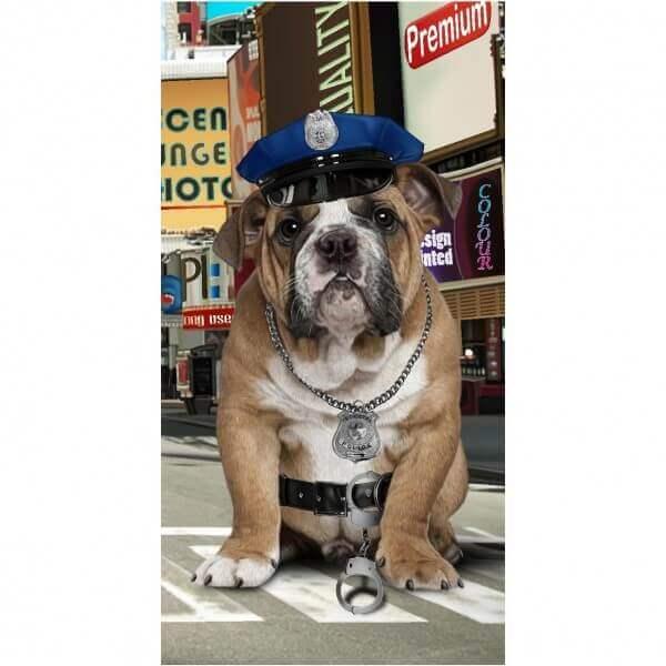 Strandtuch Polizeihund