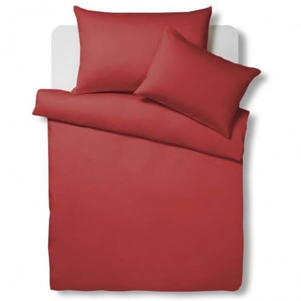 Bettwäsche Satin Uni Rot