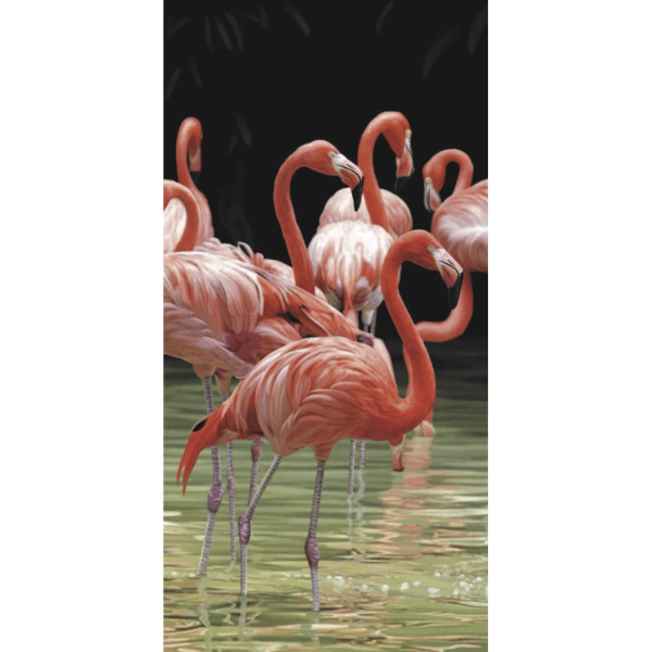 Strandtuch Flamingos