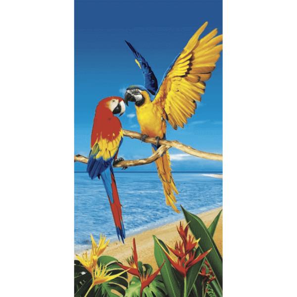 Strandtuch Papageien-Paar