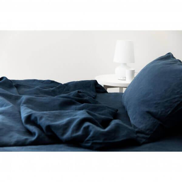 Bettwäsche Leinen Classic Nachtblau