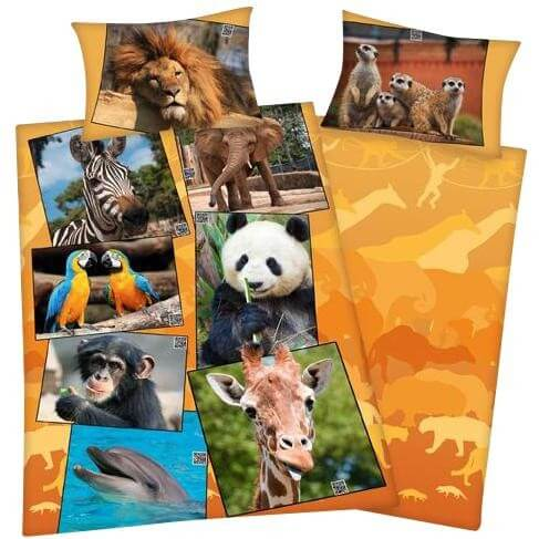 Bettwäsche Zoo Tiere