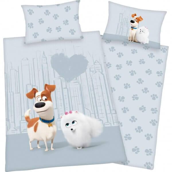 Bettwäsche Pets 2 Hunde mit Herz