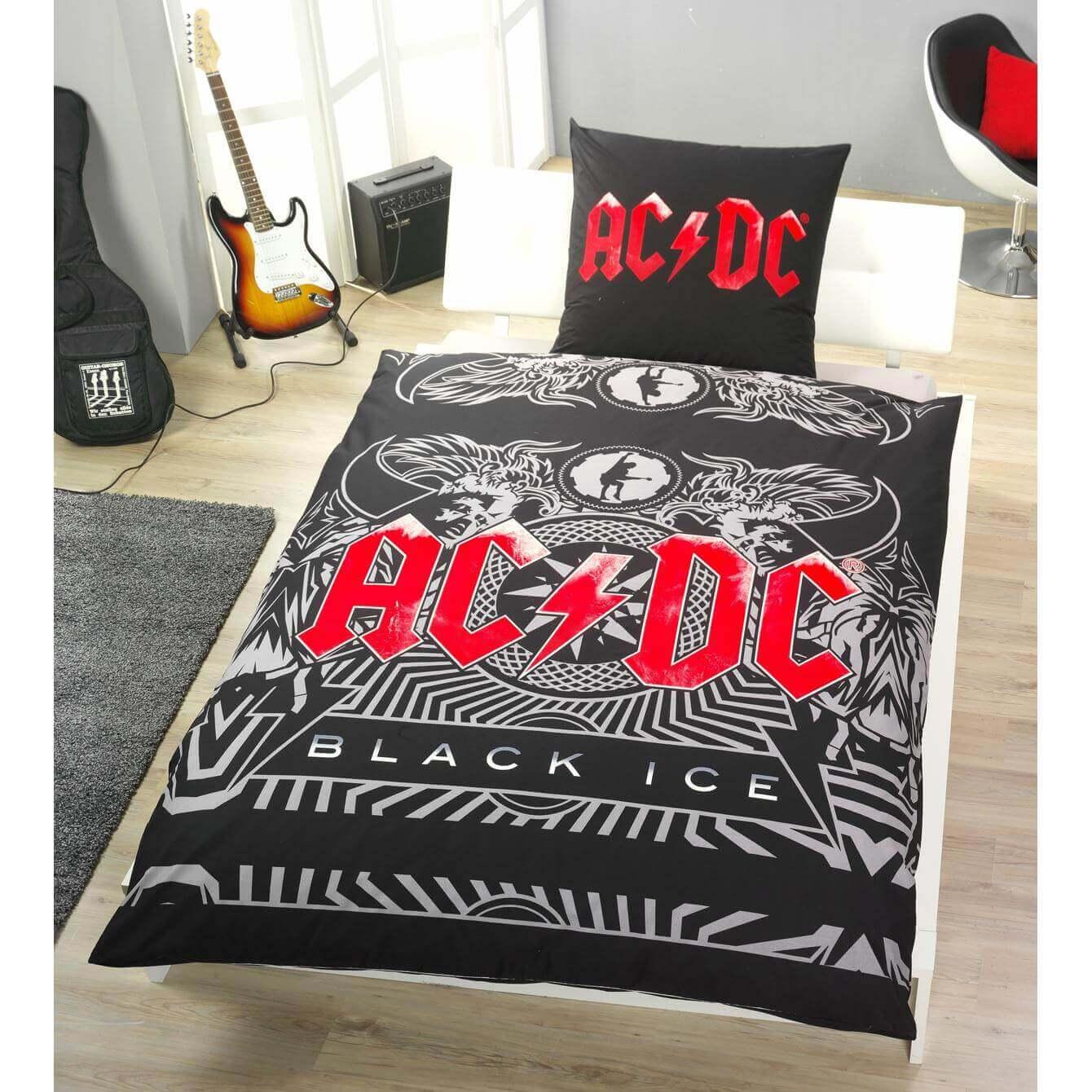 Bettwäsche Acdc Black Ice Erwachsene Bettwäsche Schlafshopch