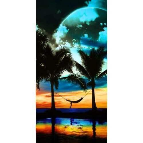 Strandtuch Tropischer Sonnenuntergang