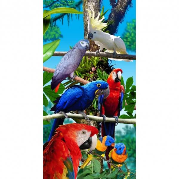 Strandtuch Papagei
