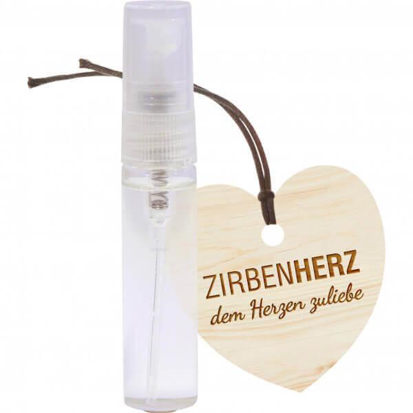 Zirben Spray & Zirben Herz-Anhänger-Set