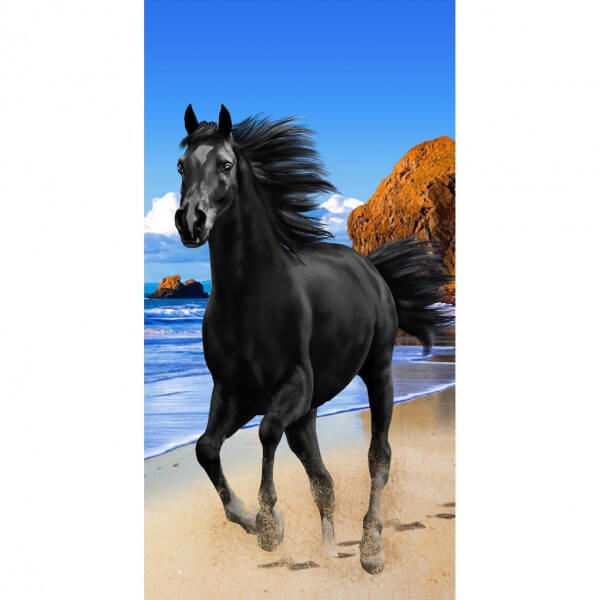 Strandtuch Pferd Black Beauty