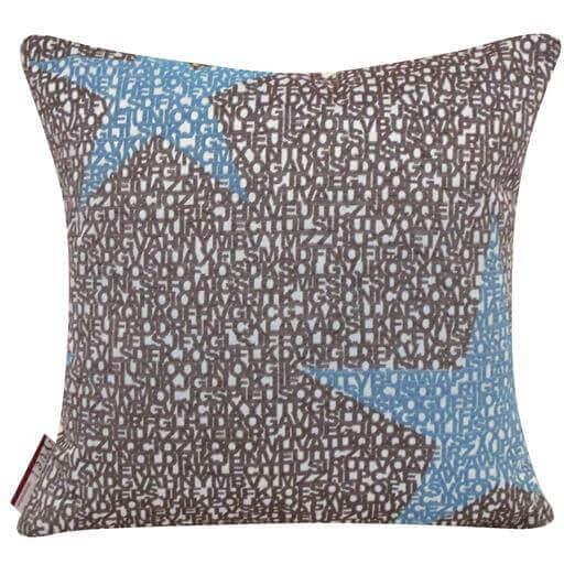 kissen mit stern motiv grau dekokissen wohnen. Black Bedroom Furniture Sets. Home Design Ideas
