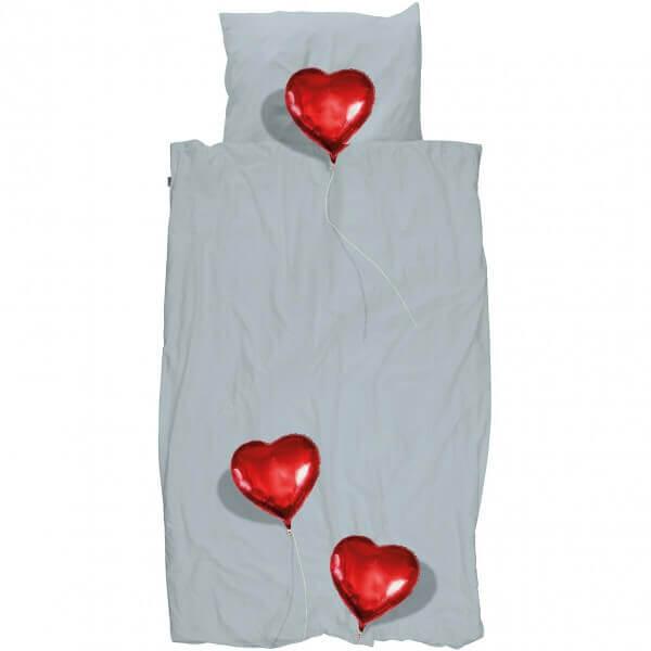 SNURK Bettwäsche Ballon-Herzen